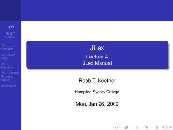 JLex.pdf - Hampden-Sydney College