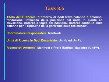 Task 8.8 - ReLUIS