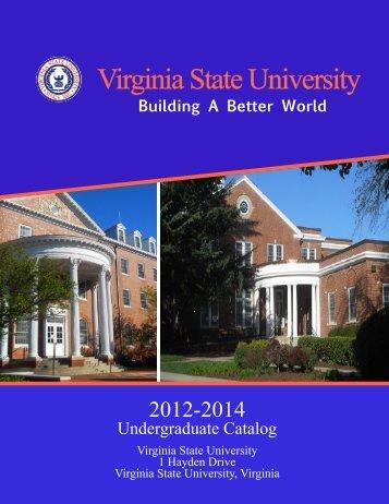 Complete 2012-2014 Undergraduate Catalog - Virginia State ...