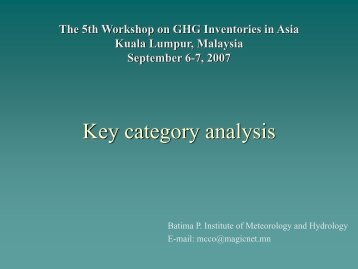 Key Category Analysis: Mongolia [PDF: 958KB] - GIO Greenhouse ...