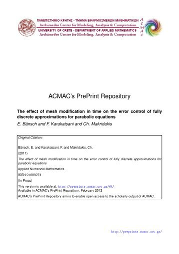 Download (1545Kb) - ACMAC's PrePrint Repository