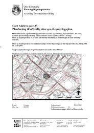Cort Adelers gate 33 Planforslag til offentlig ettersyn -Reguleringsplan