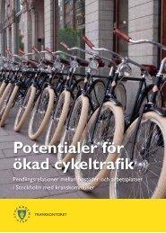 Potentialer för ökad cykeltrafik - spolander consulting