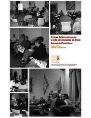 Il rapporto dei focus group - Comune di Arezzo
