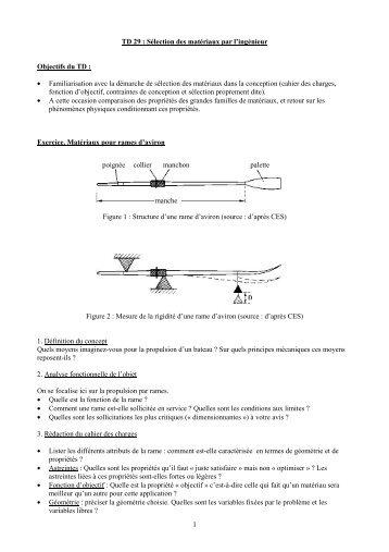 1 • Familiarisation avec la démarche de sélection des matériaux ...