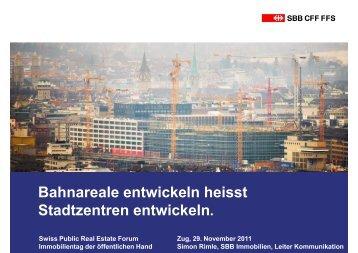 Bahnareale entwickeln heisst Stadtzentren entwickeln. - VSLI