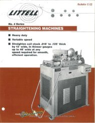 Littell No. 4 Series Straightening Machine Brochure - Sterling ...