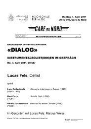«DIALOG» - Musik-Akademie Basel