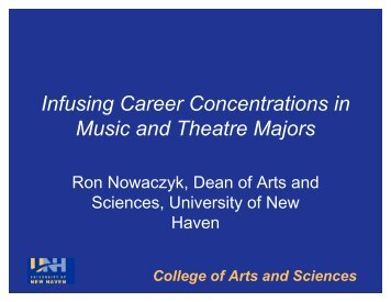 Infusing Career Concentrations in Music and Theatre Majors