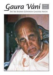 Gaura Vání únor 2013 - Sri Sri Radha Govinda Mandir