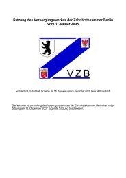 neue Satzung - Versorgungswerk der Zahnärztekammer Berlin