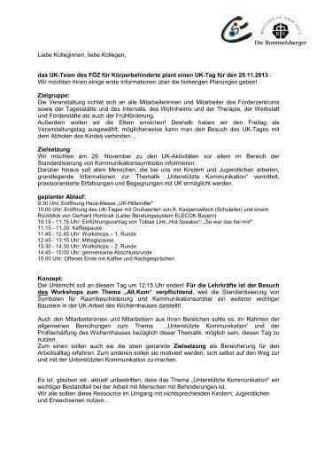 Anschreiben Kollegenb - Förderzentrum für Körperbehinderte ...