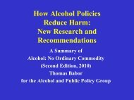 Alcohol Research and the Alcoholic Beverage Industry ... - APOLNET