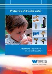 Protection of drinking water - Watts waterbeveiliging