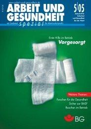 Mai 2005 - Arbeit und Gesundheit