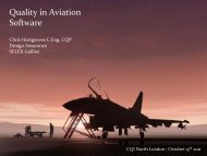 Quality in Aviation Software