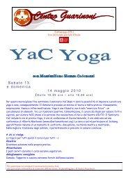 Sabato 13 e domenica 14 maggio 2010 - Centro Guarinoni