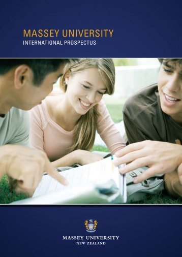 International student prospectus - Massey University