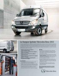 Le fourgon Sprinter Mercedes-Benz 2013 - TheSprinter.ca