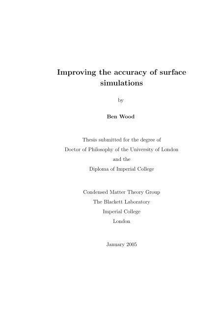 My PhD thesis - Condensed Matter Theory - Imperial College London