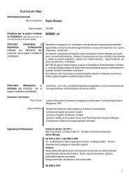 Curriculum Vitae Europass - Comune di Bologna