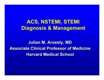 Acute Coronary Syndromes - Dr Aroesty.pdf - Joslin Diabetes Center