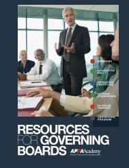 Resources for Governing Boards - American Public Power Association