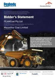 Bidder's Statement - Peabody Energy
