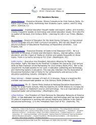 P21 Speakers Bureau - The Partnership for 21st Century Skills