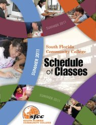 Schedule of Classes - Summer 2011 - South Florida State College
