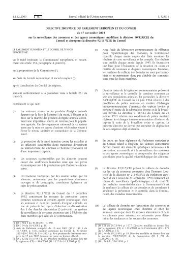 DIRECTIVE 2003/99/CE DU PARLEMENT EUROPÉEN ... - EUR-Lex