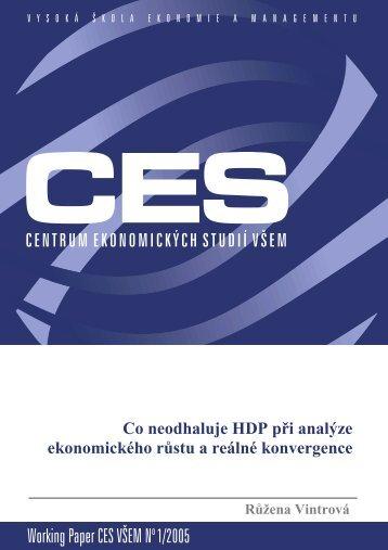 Working Paper CES VÅEM No 1/2005