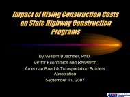 Buechner—Impact of Rising Construction Costs on State Highway ...