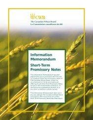 Information Memorandum Short-Term Promissory ... - TD Securities