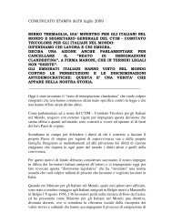 MINISTRO PER GLI ITALIANI NEL MONDO E SEGRETARIO ...