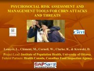 psychosocial risk assessment and management tools for cbrn ...