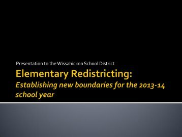 21st Century Schools - Wissahickon School District