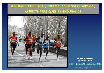 ASTHME D'EFFORT - Club des Cardiologues du Sport