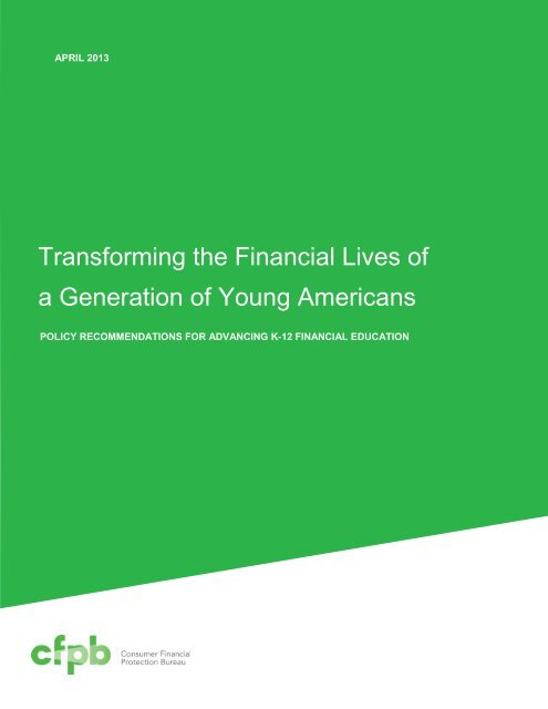 Transforming the Financial Lives of a Generation of Young Americans
