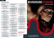 May/June 2009 - Riverside Studios
