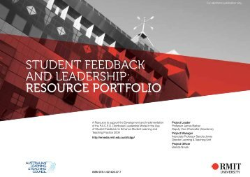 student feedback and leadership: resource portfolio - Office for ...