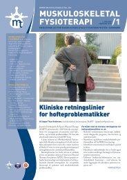 Muskuloskeletal Fysioterapi 2010 - 1 (pdf) - Fagforum for ...