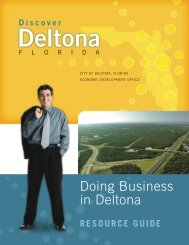 Doing Business in Deltona - City of Deltona, Florida