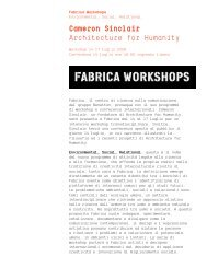 Cameron Sinclair Architecture for Humanity - fabrica