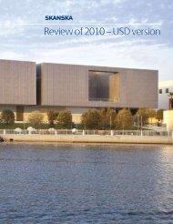 Review of 2010 – USD version - Skanska