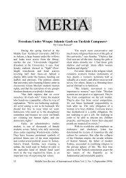 Freedom Under Wraps: Islamic Garb on Turkish ... - GLORIA Center
