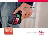 Leica DISTO™ A2 - Leica Geosystems