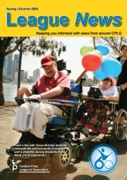 services - Cerebral Palsy League