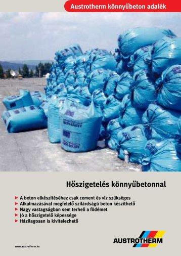 Hőszigetelés könnyűbetonnal - Austrotherm