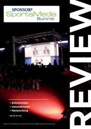 Entscheider • Innovationen • Networking - SPONSORs Sports Media ...